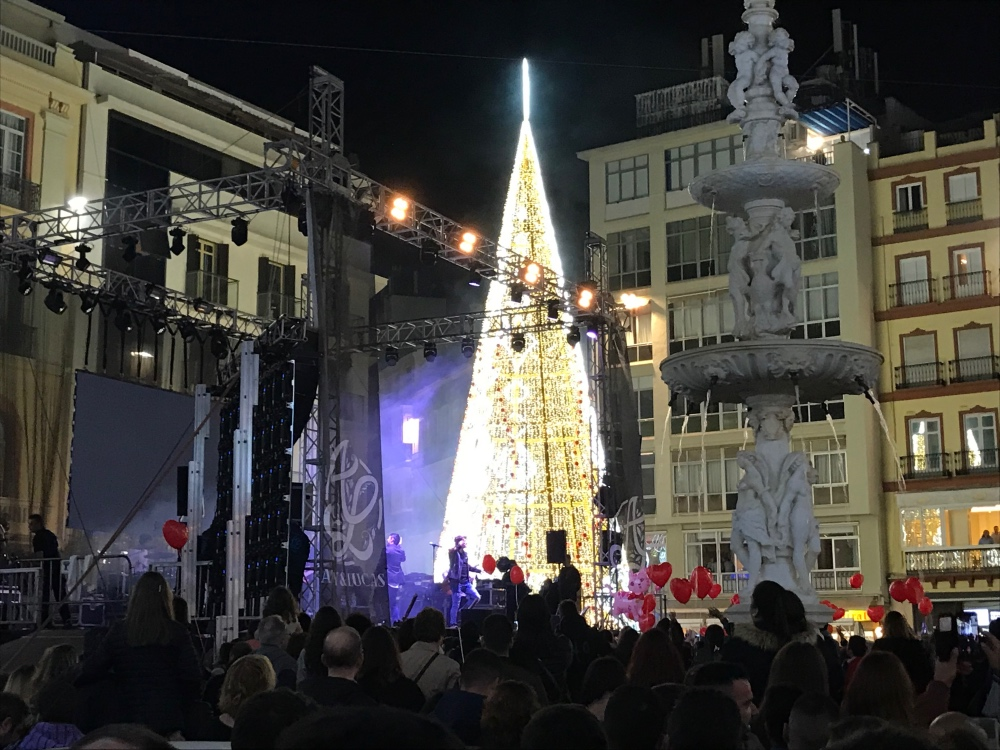 Malaga Christmas lights 2017 - FM Estates