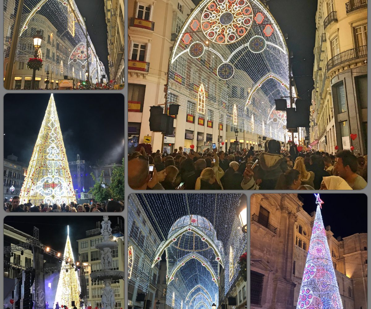 Malaga Christmas lights 2017 FM Estates Costa del Sol