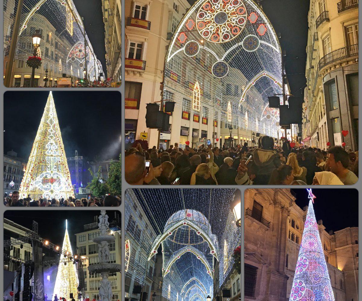 Malaga Christmas lights 2017 FM Estates Costa del Sol