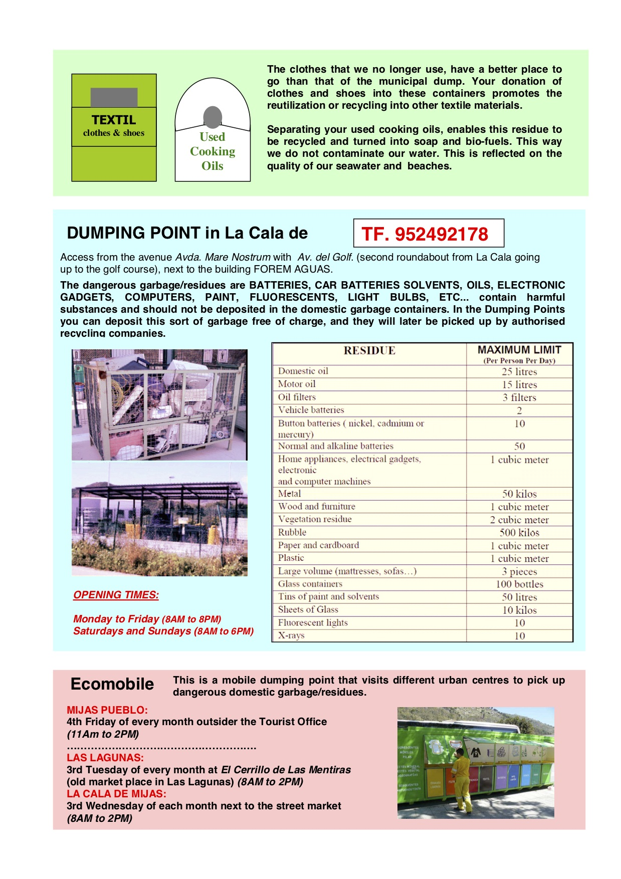 Recycling in Mijas Costa 2019
